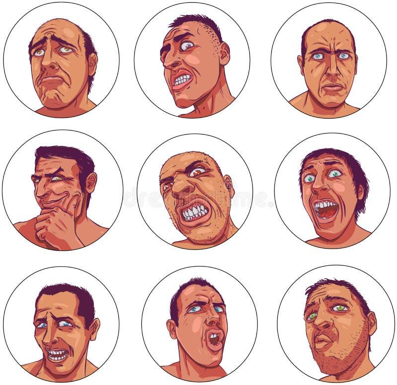 Emoções escuras ilustração royalty free
