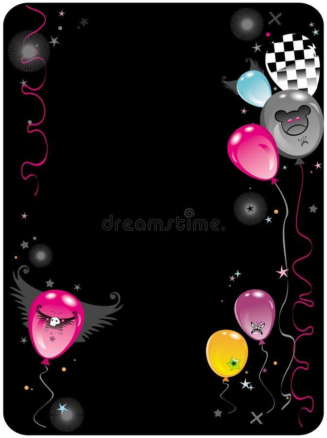 emo σύνθεσης 2 μπαλονιών απεικόνιση αποθεμάτων