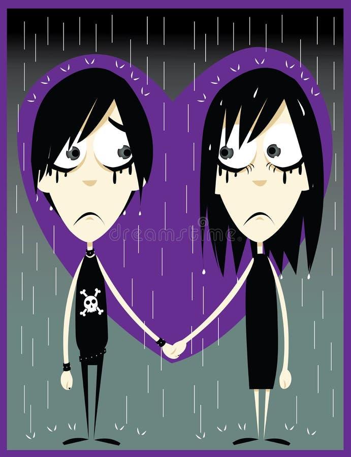 Emo förälskelse royaltyfri illustrationer