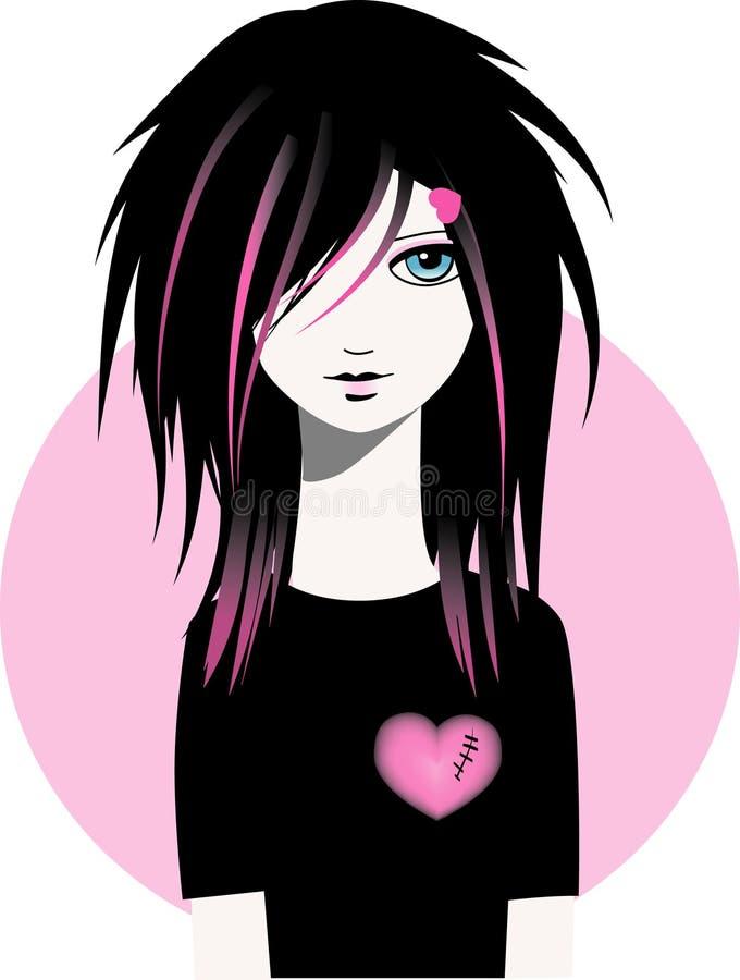 Emo Girl Stock Photo