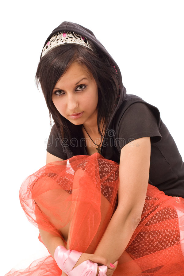 Emo girl portrait royalty free stock photography