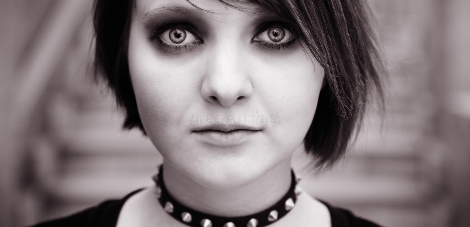 Emo of goth stock foto's