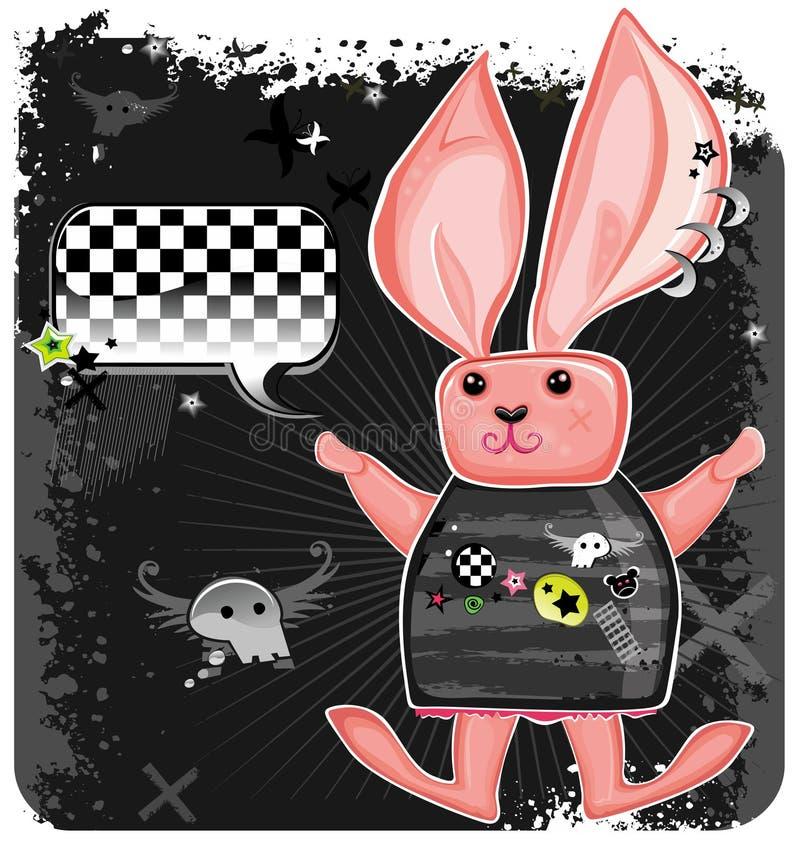 emo królik. royalty ilustracja