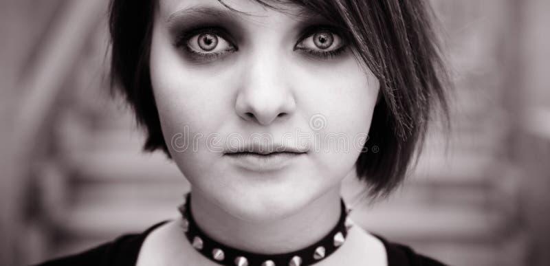 Emo o goth fotografie stock
