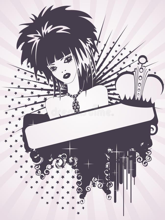 emo piękna dziewczyna ilustracji