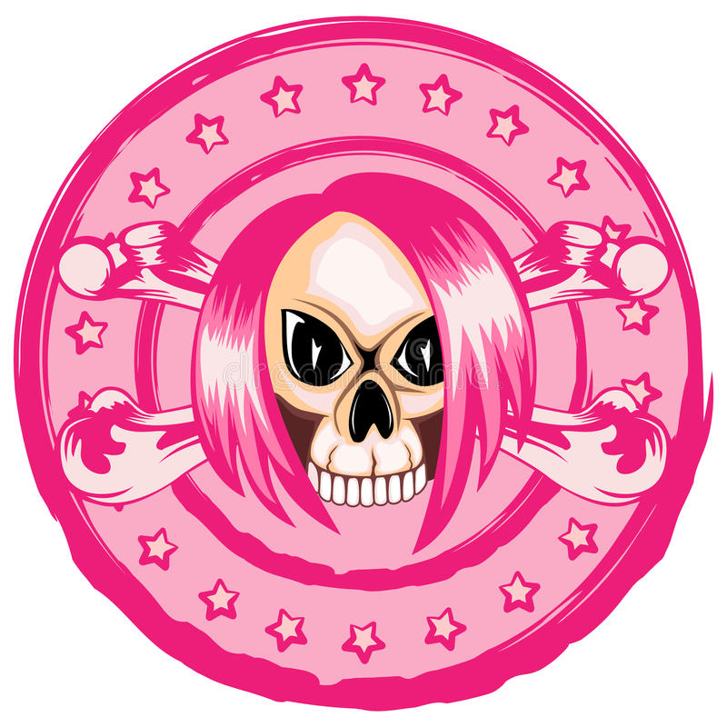 Emo_skull vektor illustrationer