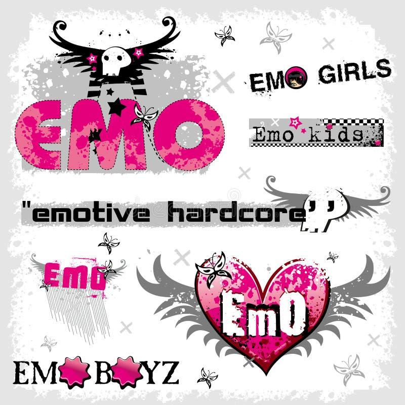Emo Zeichen vektor abbildung