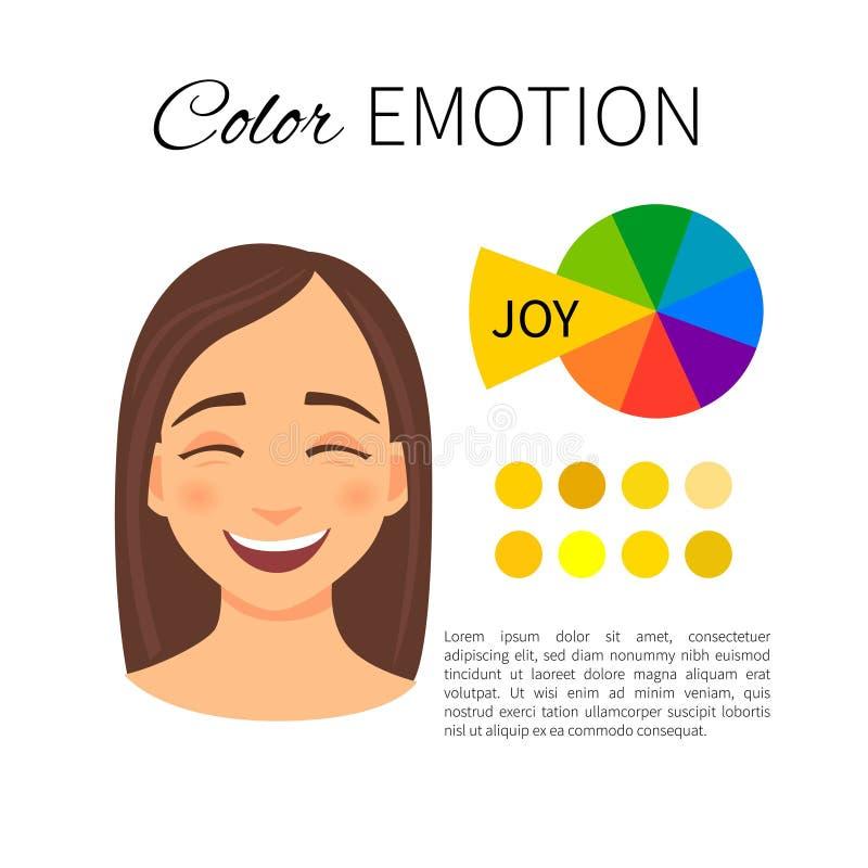 Emoción del color stock de ilustración