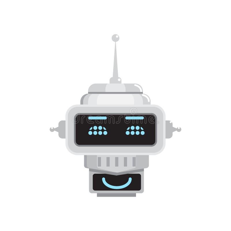 Emoción del robot Ejemplos de Emoji stock de ilustración