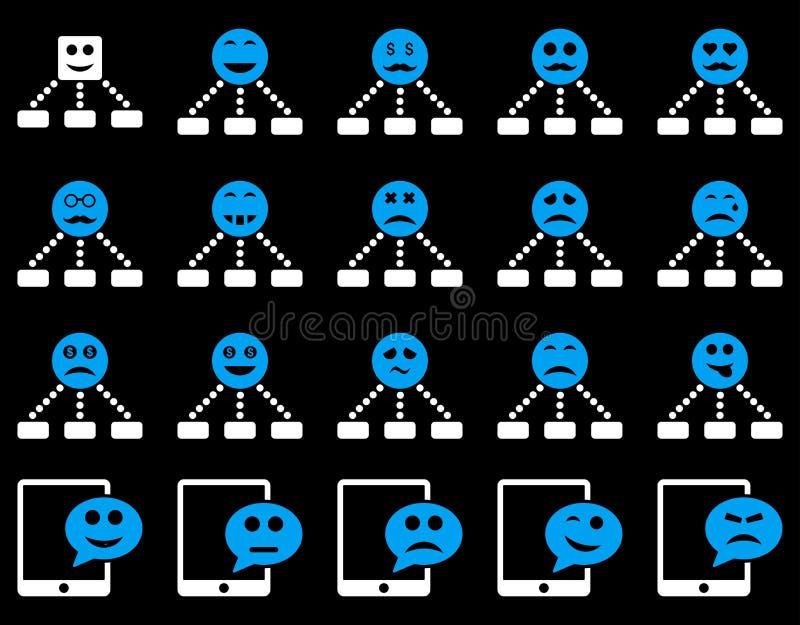 Emoci hierarchia i SMS ikony ilustracja wektor