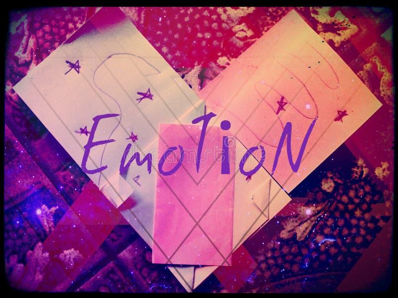 Emoci serca papier (żadny kopia robić od zero) obraz stock