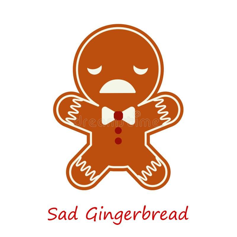 Emociones del pan de jengibre de la bandera Pan de jengibre lindo de la historieta stock de ilustración