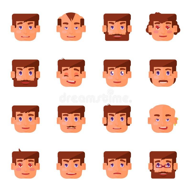 9 emocj obsługują s set royalty ilustracja