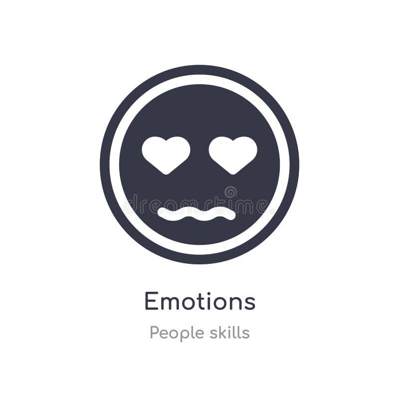 emocja konturu ikona odosobniona kreskowa wektorowa ilustracja od ludzi umiej?tno?ci inkasowych editable cienieje uderzenie emocj royalty ilustracja