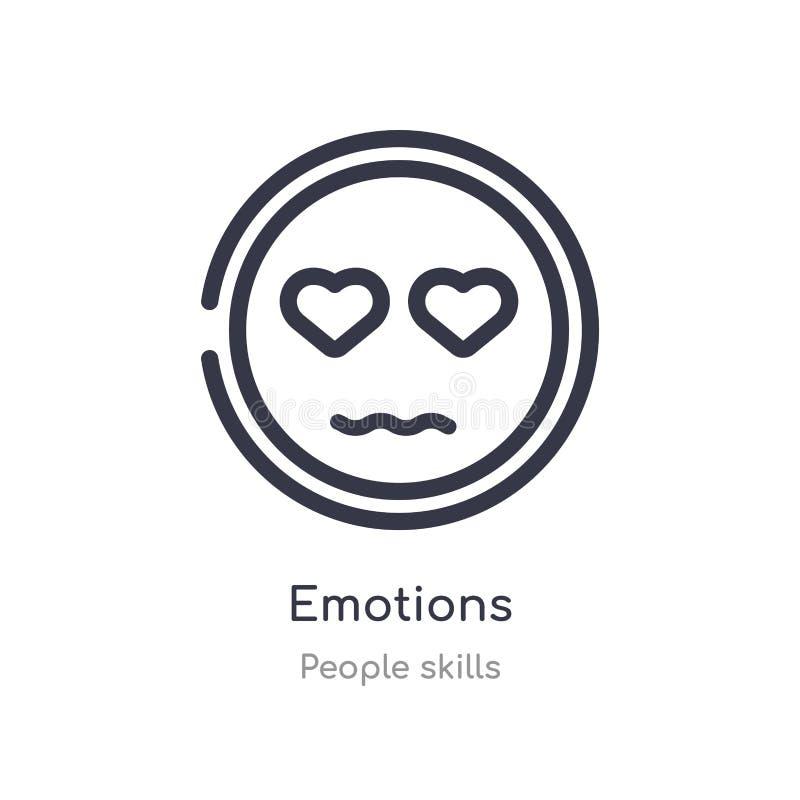 emocja konturu ikona odosobniona kreskowa wektorowa ilustracja od ludzi umiej?tno?ci inkasowych editable cienieje uderzenie emocj ilustracja wektor