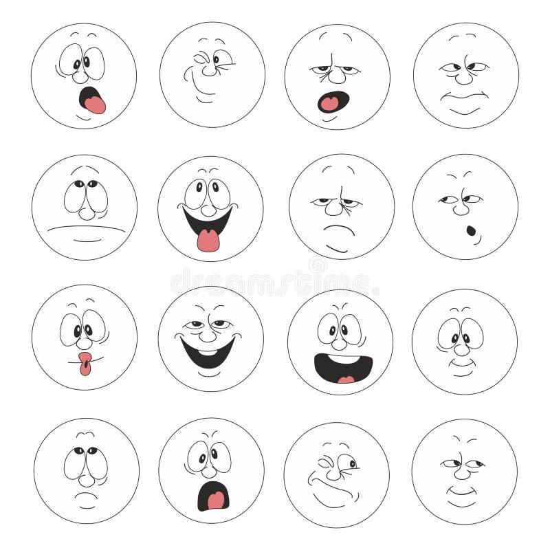 Emocja uśmiechy ustawiają 003 royalty ilustracja