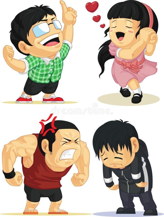 Emocja Ustawiająca - Eureka, miłość Smutna, Gniewny, ilustracji