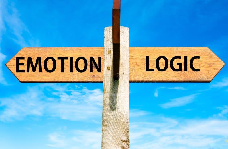 Emocja versus logika zdjęcia royalty free