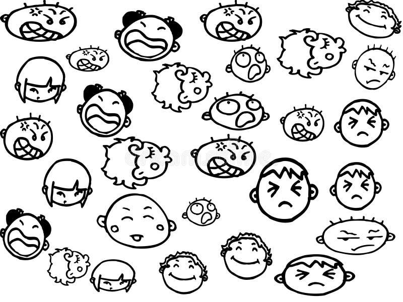 Download Emocje ilustracji. Obraz złożonej z smutny, brzydki, symbol - 8737775
