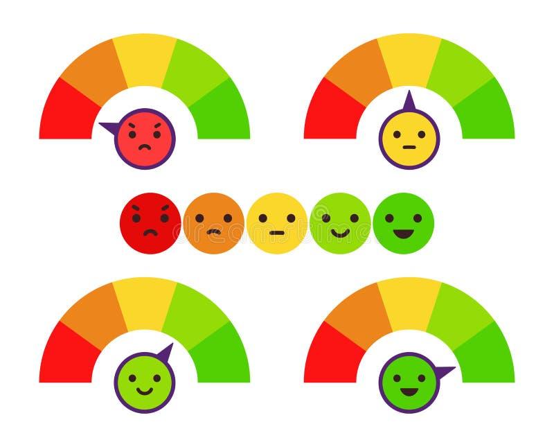 Emocji informacje zwrotne pojęcie również zwrócić corel ilustracji wektora ilustracji