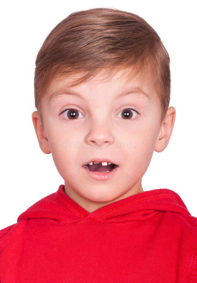 Emocjonalna portret chłopiec obraz royalty free