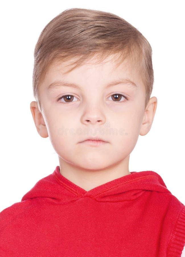 Emocjonalna portret chłopiec obrazy royalty free