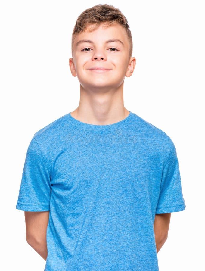Emocjonalny portret nastoletnia chłopiec obraz stock