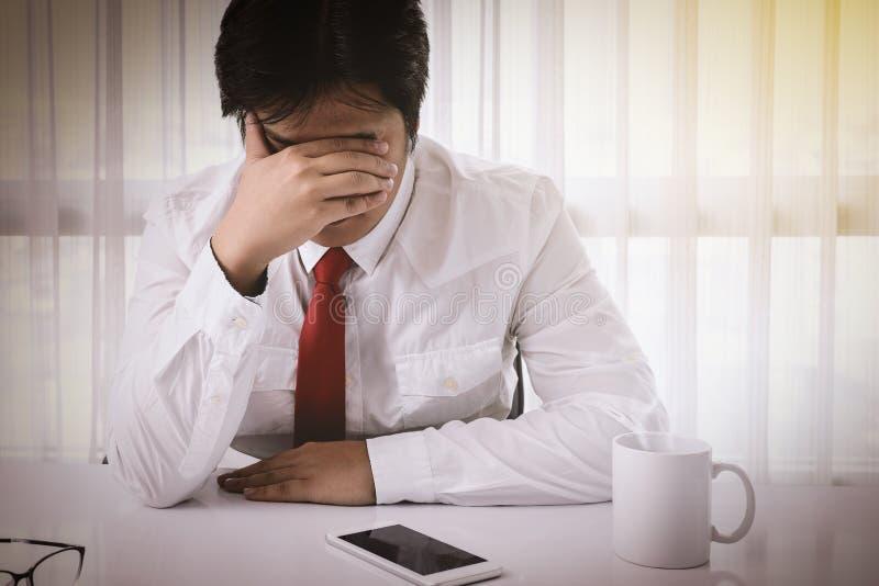 Emocjonalny stres, bankructwo, finanse obrazy stock
