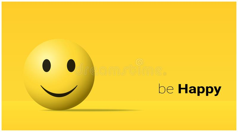 Emocjonalny tło z szczęśliwym żółtym twarzy emoji ilustracji