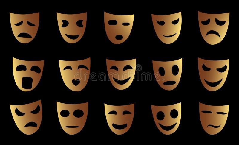 Emoji情感 向量例证
