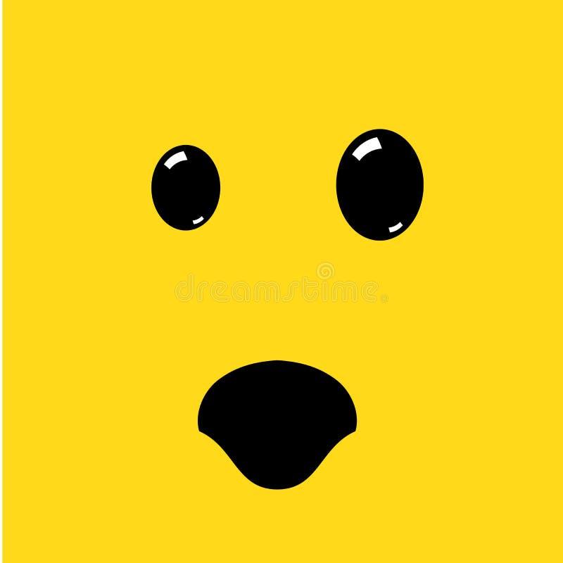 Emoji a étonné le visage Illustration de vecteur ?motic?ne ?tonn?e mignonne Réaction choquée illustration libre de droits