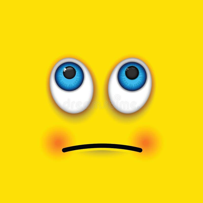 Emoji ματιών κυλίσματος ελεύθερη απεικόνιση δικαιώματος