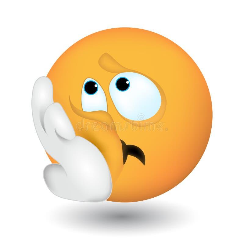 Emoji с эмоциями уныния, скуки бесплатная иллюстрация