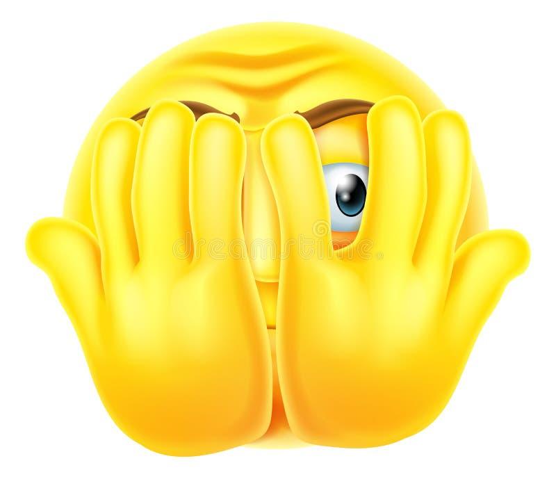 Emoji asustado del emoticon stock de ilustración