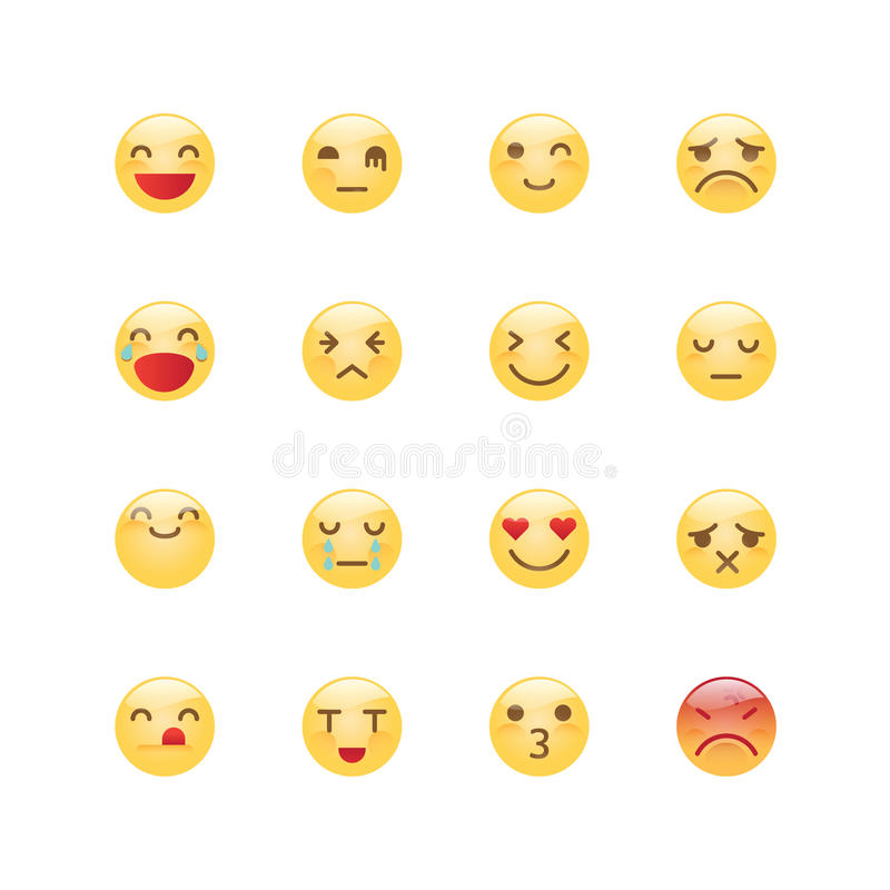 Emoji avatar collection set, emoticons isolated icons flat line. Design on white background, vector illustration vector illustration