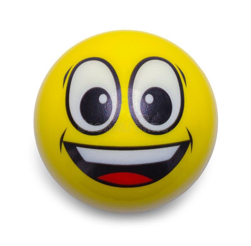 Emoji Ball. Round Emoji Smile Ball Isolated on White Background stock images