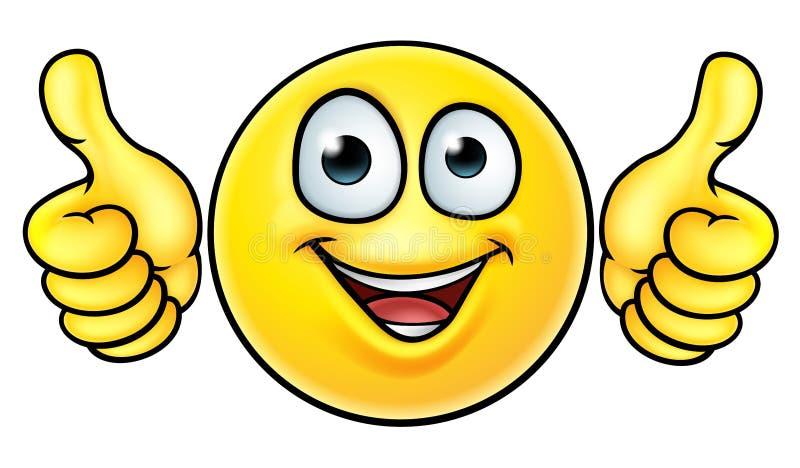 Emoji beduimelt omhoog Pictogram vector illustratie