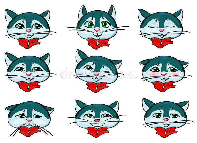 Emoji cat royalty free stock photos