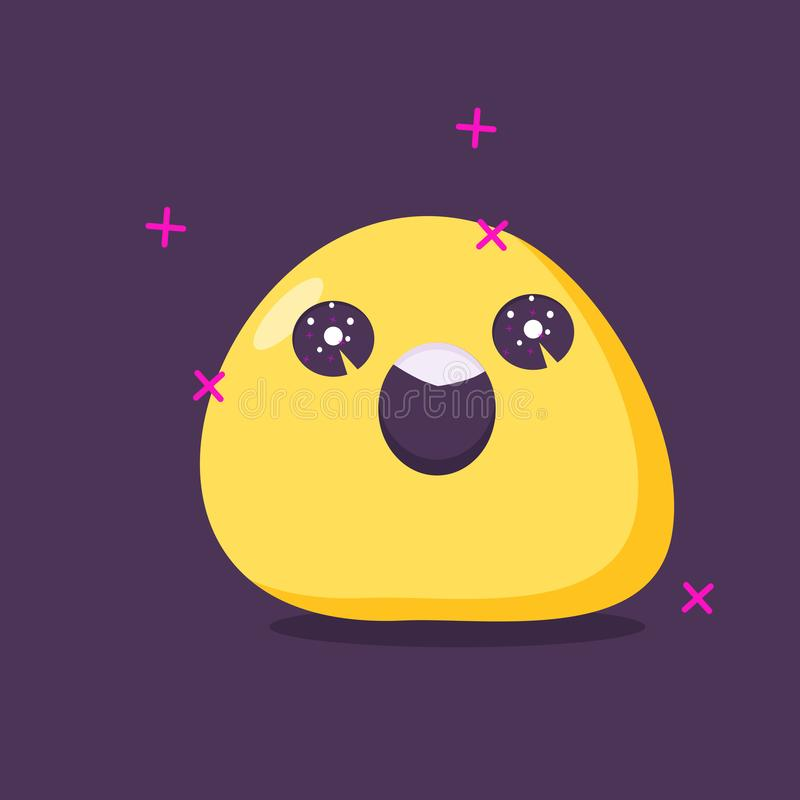 Emoji character in euphoria . Vector flat style stock illustration