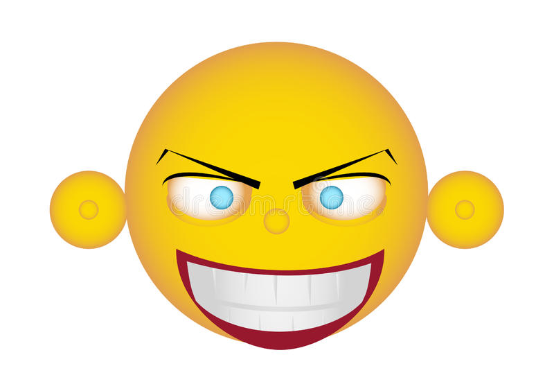 EMOJI. Characters are showing face expression royalty free illustration