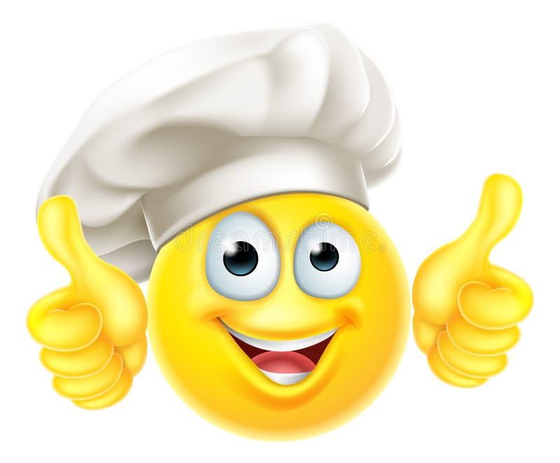 Emoji-Chef-Koch Cartoon Thumbs Up stock abbildung