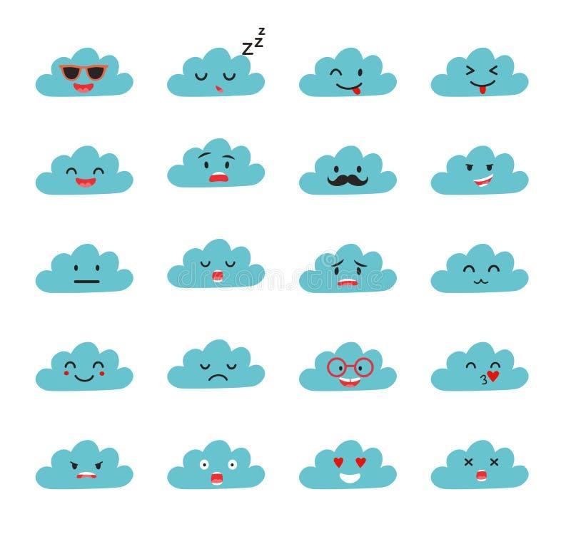 Emoji clouds vector royalty free illustration