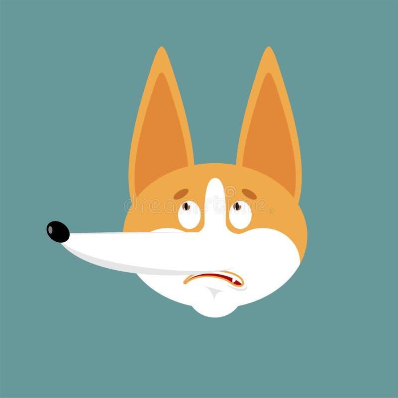 Emoji confuso del Corgi oops El perro dejó perplejo al avatar de las emociones Sorpresa del animal doméstico Ilustraci?n del vect libre illustration