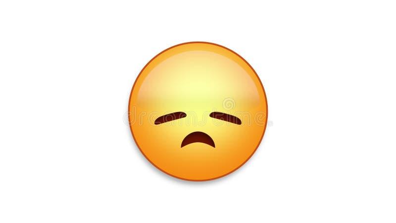 Emoji déçu avec de la matte de Luma illustration stock