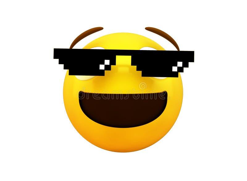 emoji de meme d'isolement illustration de vecteur