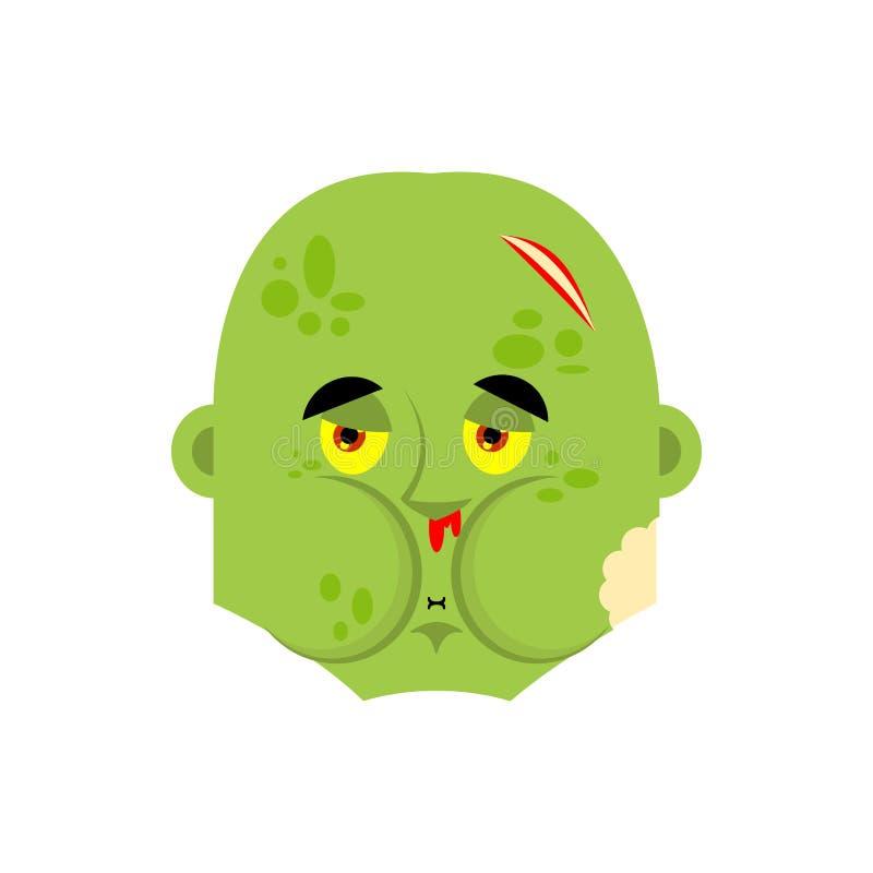 Emoji de nausée de zombi Avatar en difficulté mort vivant d'émotions Défectuosité de vampires Illustration de vecteur illustration de vecteur