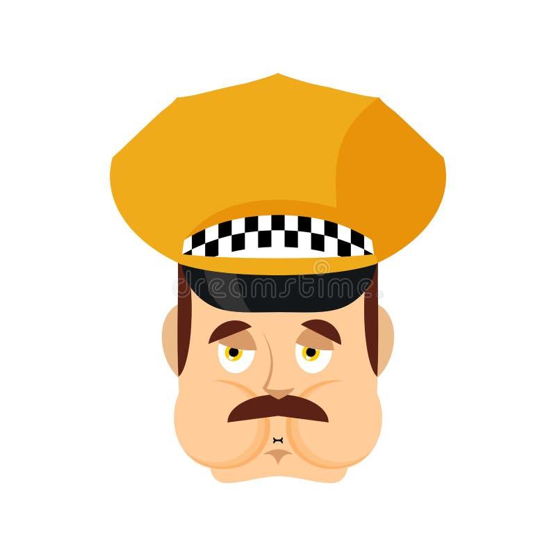 Emoji de Nausea de chauffeur de taxi Avatar en difficulté d'émotions de chauffeur de taxi Défectuosité de chauffeur de taxi Illus illustration libre de droits