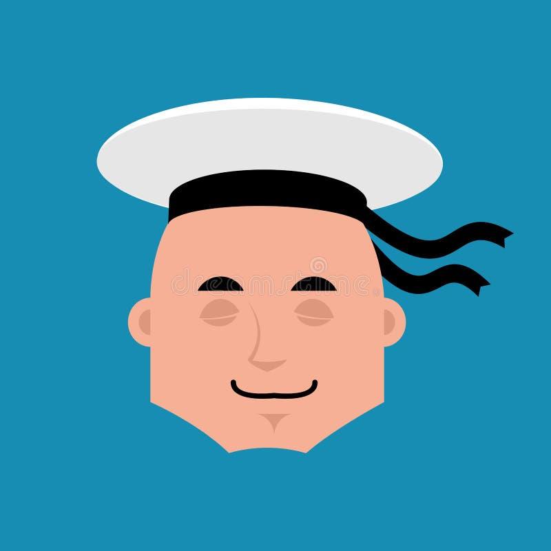 Emoji de sommeil de marin Émotion endormie a de marin russe de soldat illustration de vecteur