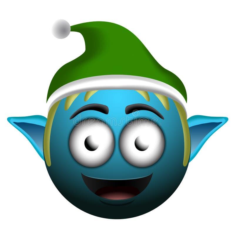 Emoji del duende de la feliz Navidad libre illustration