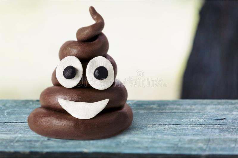 Emoji. Poop shit minimal top character emoticon stock images